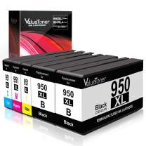 Valuetoner Remanufactured 950XL 950 XL 951 951XL Ink Cartridge Replacement 5 Pack with Officejet Pro 8100 8600 8610 8615 8620 8630 8640 8660 251dw 271dw Printer High Yield(Black/Cyan/Magenta/Yellow)