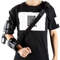 Hinged Elbow Brace Rom,Adjustable Post-Op Elbow Brace Hinged Stabilizer for Recovery Injured Elbow and Postoperative Rehabilitation Support (Right)