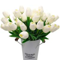 20PCS Artificial Tulips Flowers,Real Touch Tulips Fake PU Plant Great for Wedding Party Home Room Decoration