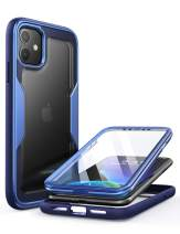 i-Blason Magma Case for iPhone 11 6.1 inch (2019 Release), Heavy Duty Protection, Full Body Bumper Protective Case with Built-in Screen Protector (Blue)
