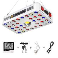DIPINGX CREE COB 600W LED Plant Grow Light, Full Spectrum Reflector Series Plant Grow Lamp,with Daisy Chain, Veg and Bloom Switch, for Indoor Plants Veg and Flower.