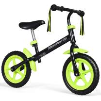 INFANS 12 Lightweight Balance Bike, Kids Training Bicycle with Fenders, Tassel Ribbon, Adjustable Seat/Handlebar, Inflation-Free EVA Tires, No-Pedal Pre Walking Bike for Toddler 2 to 5 Years