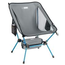 VIVOHOME Portable Ultralight Camping Chair, 300D Extra Thick Oxford Backpacking Chair with Side Pockets and Storage Bag for Camp, Picnic, Beach, Hiking, 350 lbs Capacity