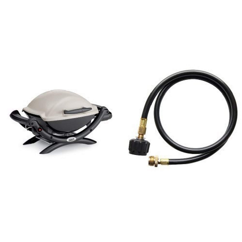 Weber 50060001 Q1000 Liquid Propane Grill with Cuisinart Adaptor Hose