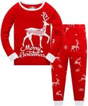 Christmas Pajamas for Kids Girls Pajamas Sets Mermaid Sleepwear 2pcs 100% Cotton Toddler PJS Clothes
