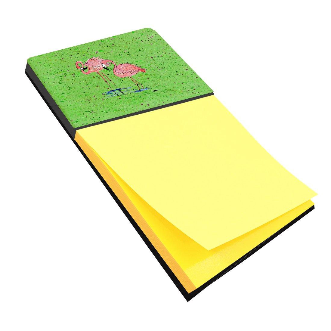 Caroline's Treasures 8567SN Flamingo Refiillable Sticky Note Holder or Postit Note Dispenser, Large, Multicolor