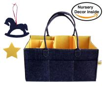 Baby Diaper and Wipes Caddy Storage Bins for Diapers Diaper Bag Insert Organizer Large Size Felt Portable Diaper Caddy Changing Table Organizers and Storage Basket Toy Storage Car Travel Organizer