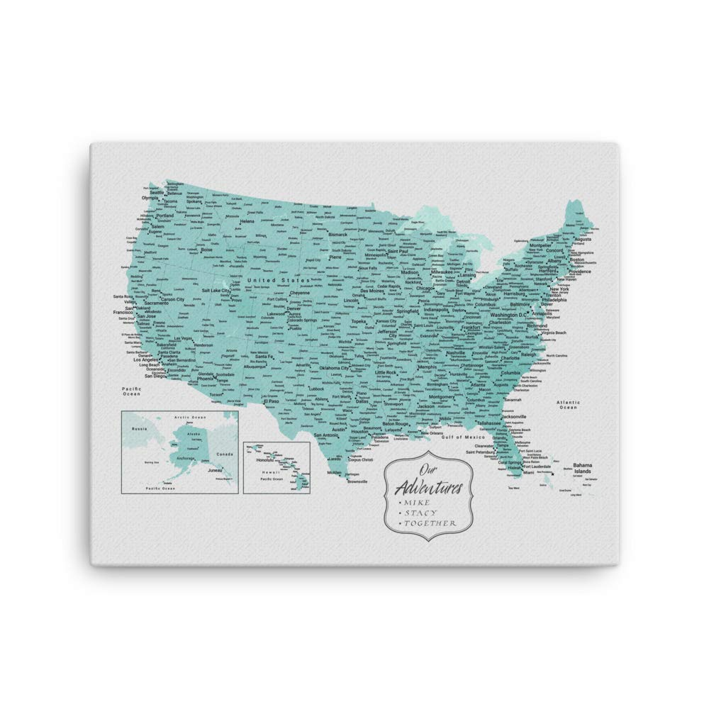 Mission Hammocks United States Push Pin Map | US Travel Pin Board | USA Travel Map | Custom Travel Tracker | RV Gift | RV Décor