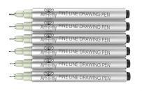 Black Fine Tip Inking Pens For Drawing Archival Waterproof Ink Pen Fineliner Sketching Pens for Artist Drafting Manga Pens Writing