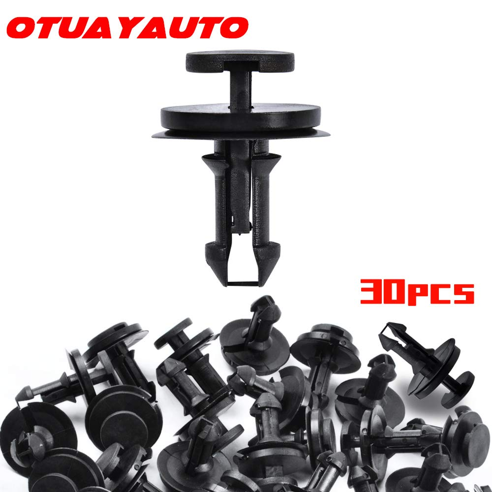 OTUAYAUTO 30Pcs Front Air Deflector Retainer Clip, Front Bumper Clips for GMC Sierra, Chevrolet Silverado, Replacement OEM # 15733971