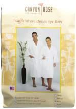 Canyon Rose Unisex Waffle Weave Spa Robe, Black, S