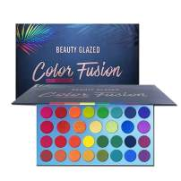 Beauty Glazed 39 Colors Eyeshadow Palette Matte and Shimmer Makeup Palettes Highly Pigmented Easy to Blend