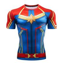 RONGANDHE Men's Super-Hero Compression Sports Fitness Elastic Gym Shirt Quick-Drying Running