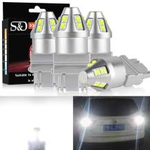3157 LED Bulbs 4 Packs,3156 3057 4057 4157 3457 Super Bright White 3030 LED Chips for Backup Reverse Lights, Parking Lights, Daytime Running Lights,RV Camper Trailer Boat Trunk Interior Lights