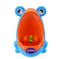 AOMOMO Urinal Potty Training for Boys with Frog Funny Aiming Target (Blue)