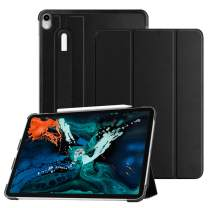 """Fintie SlimShell Case for iPad Pro 12.9"""" 3rd Gen 2018 [Supports 2nd Gen Pencil Charging Mode] - Lightweight Stand Cover with [Secure Pencil Holder] Auto Sleep/Wake, Black"""