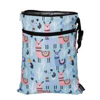 Dry Baby Diaper Bags-Double Zippered Pockets Wet Bag Reusable Large Waterproof Nappy Bag Yoga Gym Clothes Dry Bags For Boys Girls