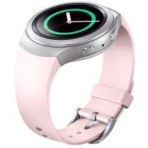 FanTEK Band for Samsung Gear S2 - Soft Silicone Sports Style Replacement Strap Work for Samsung Gear S2 Smart Watch SM-R720 SM-R730 Version Only (Pink)
