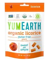 YumEarth Organic Gluten Free Peach Licorice, 5 Ounce, 6 pack
