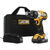 JCB Tools - JCB 20V Brushless Hammer Drill Driver - Includes 2.0Ah Battery - 2.4A Charger, JCB-20BLCD-2X