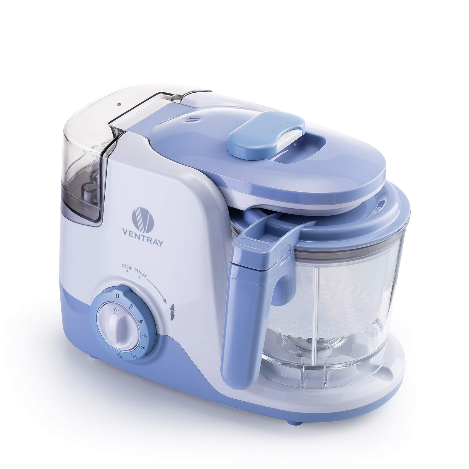 Ventray BabyGrow 600 Purple - All-in-one Quick Steaming and Blending Baby Food Maker - Programmable Premium Baby Food Processor with Removable Water Tank