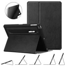 Fintie Case for iPad 9.7 2018 2017 / iPad Air 2 / iPad Air - [Corner Protection] Multi-Angle Viewing Rugged Soft TPU Back Cover w/ [Secure Pencil Holder] Auto Sleep/Wake, Classic Black