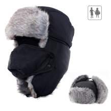 Kids/Adults Winter Trapper Hat with Ear Flap Ushanka Windproof Trooper Hat