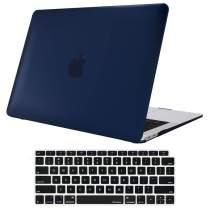 ProCase MacBook Air 13 Inch Case 2020 2019 2018 Release A2179 A1932, Hard Case Shell Cover for MacBook Air 13-inch Model A2179 A1932 with Keyboard Skin Cover –Darkblue