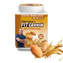 Chef Robert Irvine's FITCRUNCH Whey Protein Powder, Gluten Free Whey Protein (18 Servings, Peanut Butter)