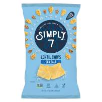 Simply 7 Lentil Chips, Sea Salt, 4 Ounce (Pack of 12), Packaging May Vary