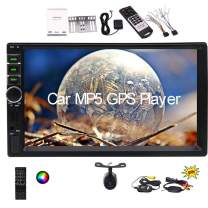 7 inch Car MP5 Player Double Din GPS Navigation in Dash Audio Video Player 2 din Car Stereo System in-car Entertainment Head Unit Support USB/SD/AUX/FM Radio/Full Touchscreen/Wireless Backup Camera