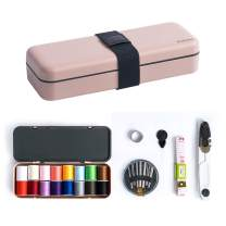 iSuperb Sewing kit,Sew Kit for Beginner,Home,Adults,Traveler,Emergencies, Filled with Scissors, Thimble, Thread, Sewing Needles, Tape Measure etc (Light Pink)