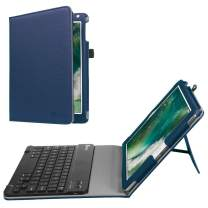 Fintie Keyboard Case for iPad 9.7 2018 2017 / iPad Air 2 / iPad Air - Folio Stand Cover with Removable Wireless Bluetooth Keyboard for iPad 6th / 5th Gen, iPad Air 1/2, Navy