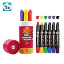 Jar Melo Washable Crayons -6 Colors; Non Toxic; 3 In 1 Effect (Crayon- Pastel- Watercolor); Slick; Twistables Gel Crayons; Barrel Crayons; Art Tools; Silky Crayons; Jumbo