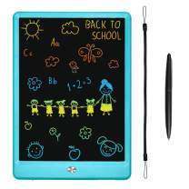 KURATU LCD Writing Tablets for Kids 10 inch Colorful Screen Electronic Drawing Pads Writing Board & Drawing Tablet Doodle Board Writing Tablets (Blue)