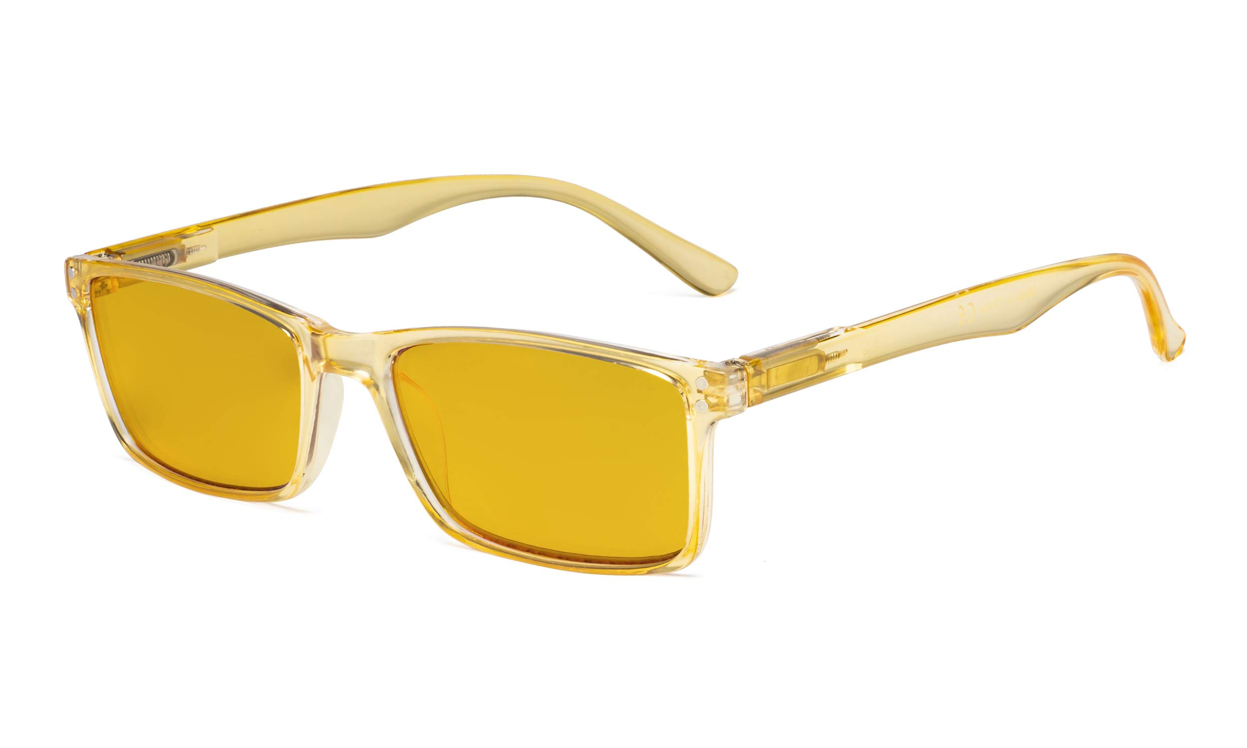 Eyekepper Computer Glasses - Blue Light Blocking Readers with Amber Tinted Filter Lens - Stylish Reading Glasses - Yellow +1.50