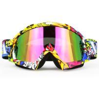 JAMIEWIN Adult Motorcycle Motocross Goggles ATV Racing Goggles Dirt Bike Mx Goggle Glasses and Ski Snowborading(12 Color)
