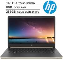 "KKE Upgrades 2020 Newest Notebook Laptop, 14"" HD Micro-Edge WLED-Backlit Touchscreen, Intel Core i3-8145U Processor up to 3.9GHz, 8GB RAM, 256GB M.2 SSD, HDMI, Wi-Fi, Bluetooth, Windows 10, Pale Gold"