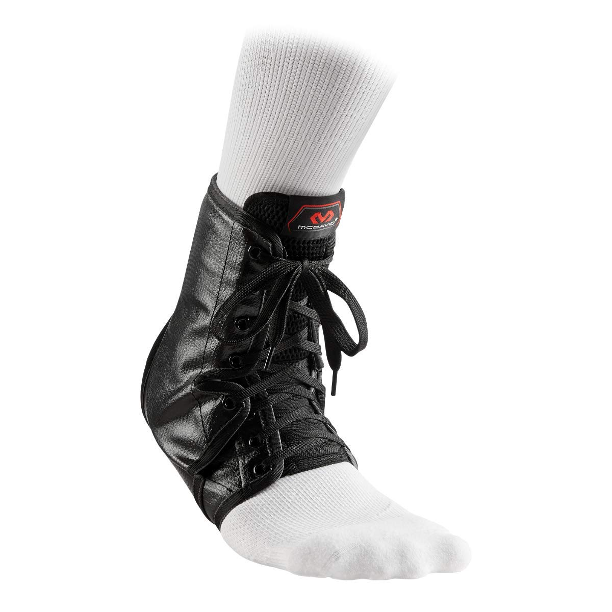 McDavid Ankle Brace Lace-Up w/Inserts, Maximum Strength Ankle Support to Help Prevent & Recover from Ankle Sprains