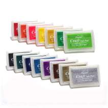 DECORA Stamp Ink Pads Water-Soluble for Kids DIY Scrapbooking, Finger Printing and Card Making 15 Colors