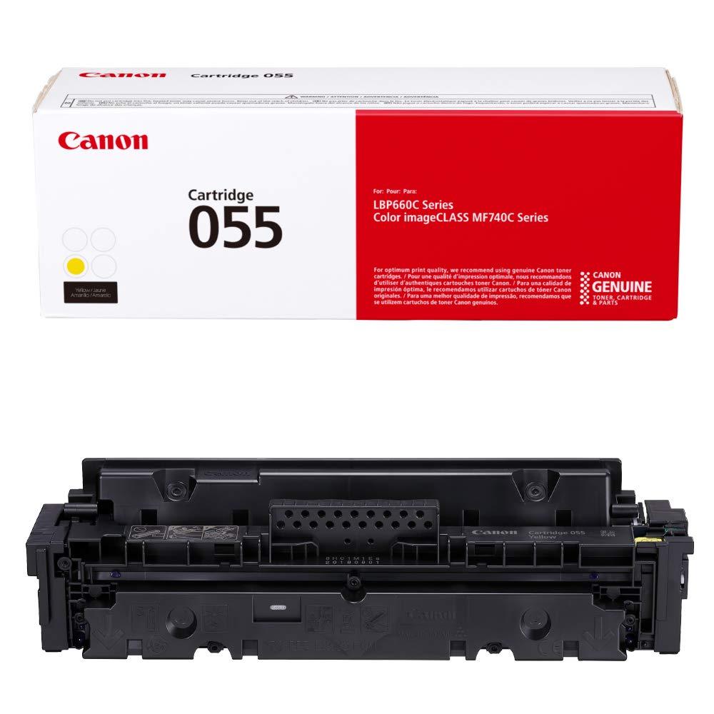 Canon Genuine Toner, Cartridge 055 Yellow (3013C001) 1 Pack, for Canon Color imageCLASS MF741Cdw, MF743Cdw, MF745Cdw, MF746Cdw,LBP664Cdw Laser Printers