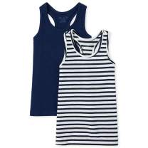 The Children's Place Girls' Basic Tanks, Pack of Two