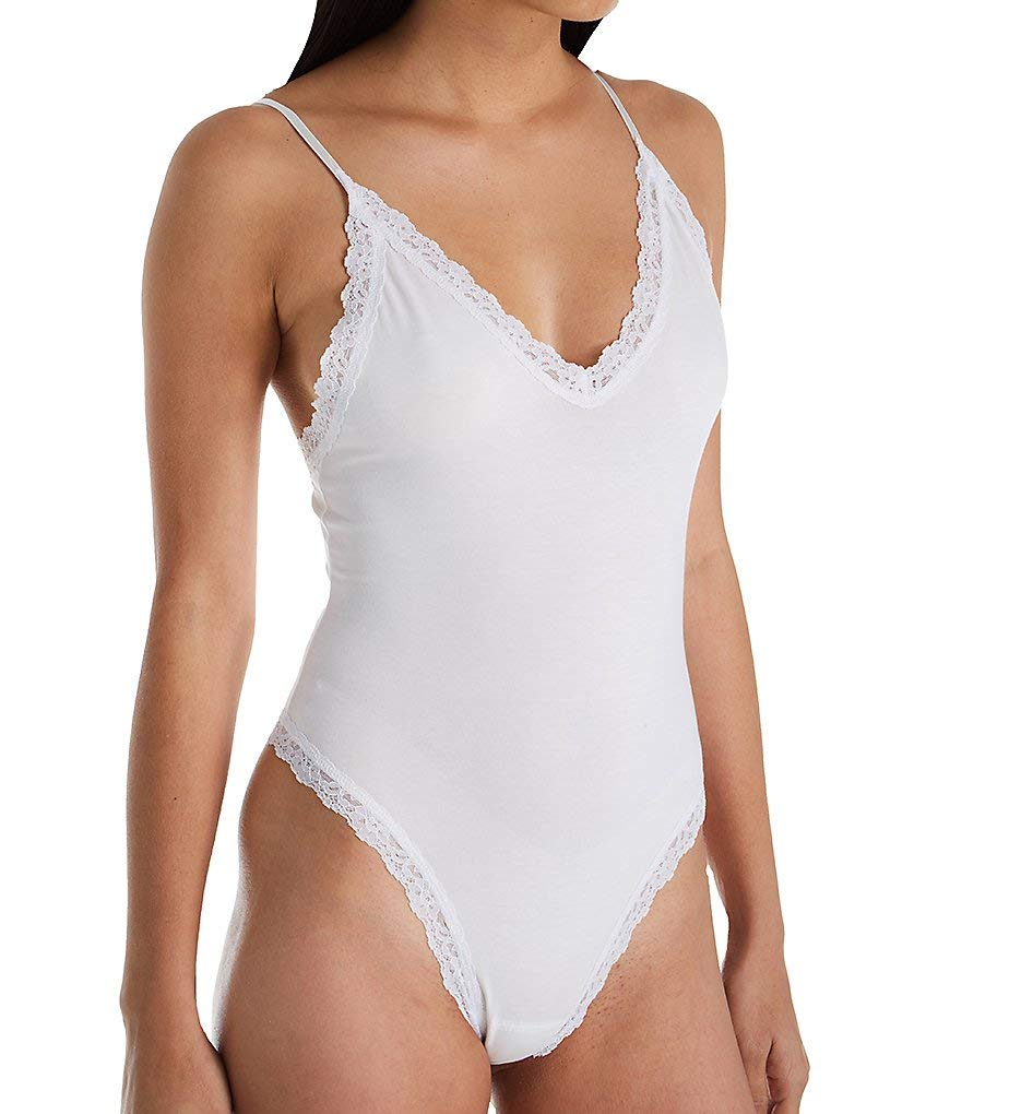 Hanky Panky Women's Cotton with a Conscience Thong Back Bodysuit