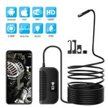 Snake Camera WiFi Inspection Camera Endoscope 2.0 Megapixels 1080 HD Borescope Waterproof Wireless Endoscope (2.0MP)