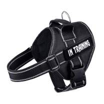 WOCUME No Pull Dog Harness Adjustable 3M Reflective Pet Vest Harness Dog Training Vest Breathable with Handle for Large Dogs Easy Control Harness