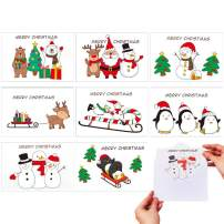 CCINEE Christmas Greeting Card,Assorted Xmas Cards Bulk with Envelopes Santa Claus for Holiday,4 X 6 Inches,Pack of 48