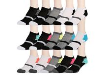 15 Pairs of WSD Womens High Performance Ankle Socks Low Cut Cushioned (Pack D)