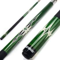 """GSE Games & Sports Expert 58"""" 2-Piece Canadian Maple Billiard Pool Cue Stick(4 Colors, 18-21oz)"""
