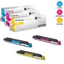 CS Compatible Toner Cartridge Replacement for HP 100 Color MFP M175A CE311A Cyan CE312A Yellow CE313A Magenta HP 126A Color Laserjet PRO M175 MFP PRO 100 M175A M175W 3 Color Set