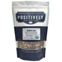 Positively Tea Company, Organic Mango Chai, Black Tea, Loose Leaf, USDA Organic, 1 Pound Bag